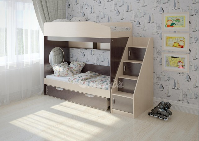Трехъярусная кровать Легенда 10.5