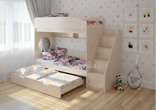 Детская выдвижная кровать Легенда 10.5