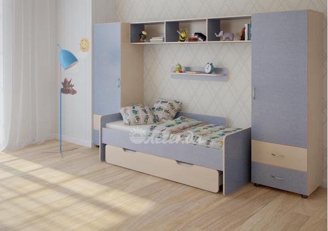 Детская стенка с выдвижной кроватью Легенда №16