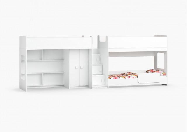 Трехъярусная кровать Легенда 43.1.5
